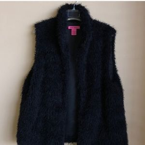 3for$20👯Betsey Johnson | Black Fur Vest